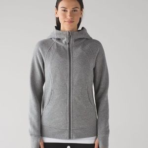 Grey Lululemon Scuba Zip Hoodie Sz 8